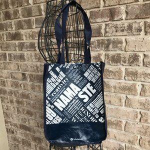Lululuemon Yoga Reusable Bag Shopping Namaste Navy